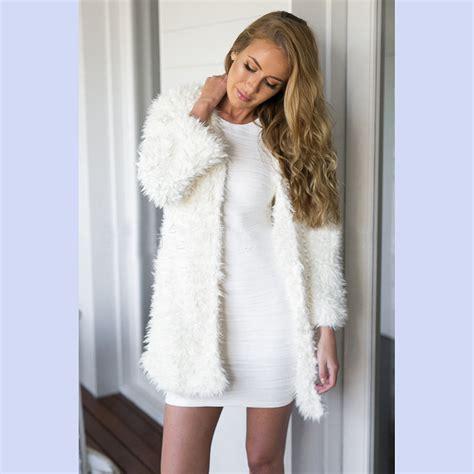 Switer Wanita Murah Trend Putih Salju berbulu putih jaket beli murah berbulu putih jaket lots from china berbulu putih jaket suppliers
