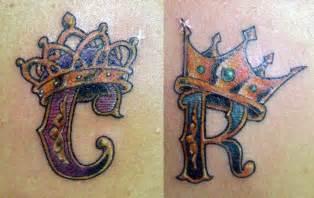 c n r letters crown designs tattoobite