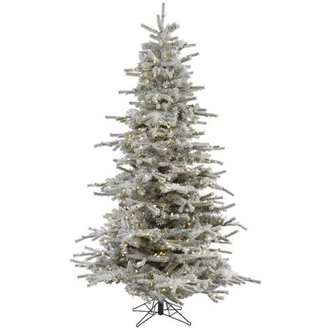 12 ft sierra devada tree 12 flocked fir tree pre lighted led profile