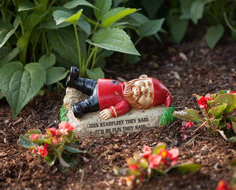 garden gnome star trek garden gnomes should boldly go in your back yard