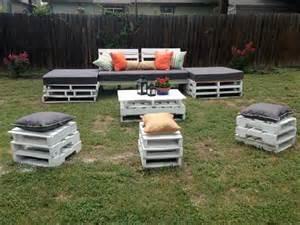 Diy pallet outdoor seating furniture 101 pallets