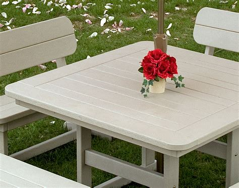 polywood picnic table polywood commercial square picnic table