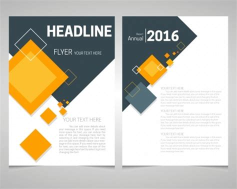 flyer design name annual report flyer template with lozenge arrangement