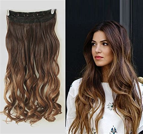 Wavy Extension Hair 20 inches wavy 3 4 clip in hair extensions ombre