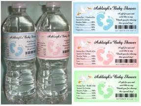 baby shower label template for favors how to create baby shower water bottle labels baby