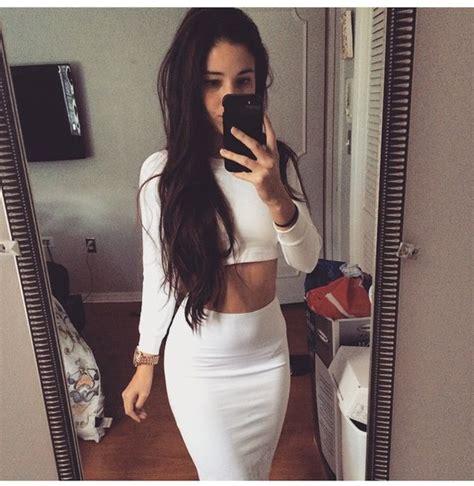 Verona Skirt White dress angie varona skirt white top crop tops