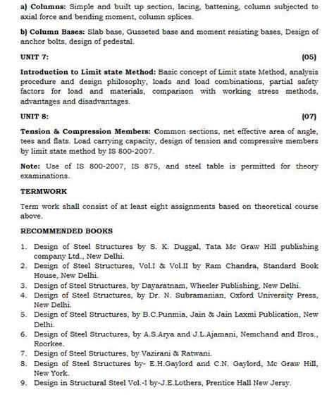 Shivaji Mba Syllabus by Shivaji Te Civil Syllabus 2018 2019 Student Forum