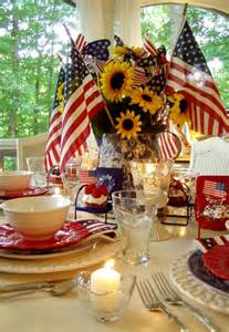 4th of july and table setting ideas