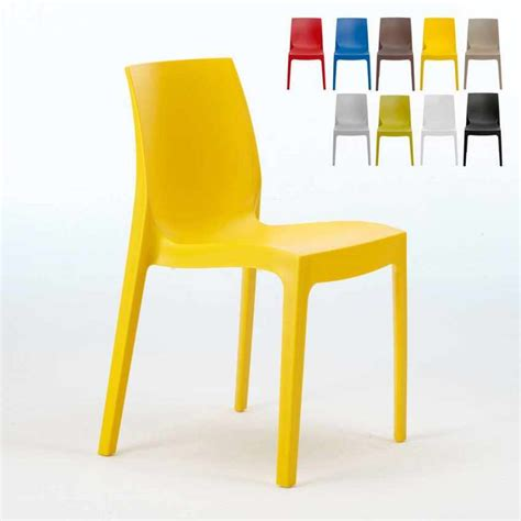 sedia cucina sedia impilabile lavabile in polipropilene per cucina bar