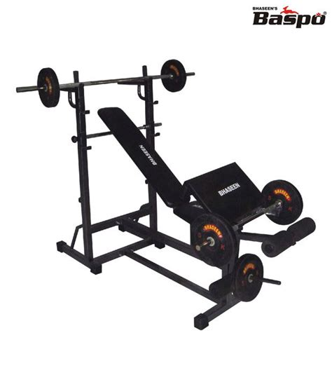 buy gym bench baspo personal gym bench 9 in 1 buy online at best price