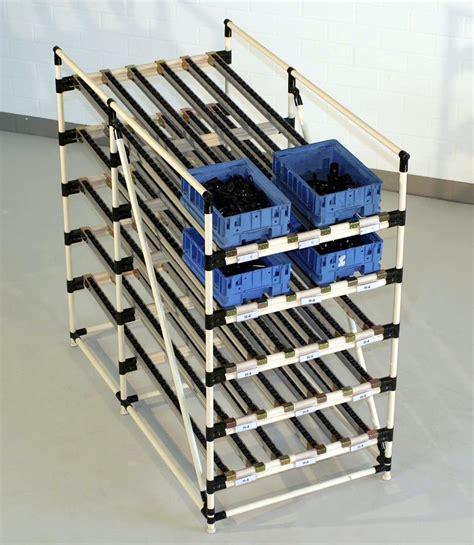 Flow Rack Systems by Creform Develops Height Adjust Angle Adjust Storage Flow
