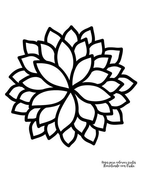 imágenes de flores muy bonitas para dibujar reciclando con erika hojas para colorear de flores