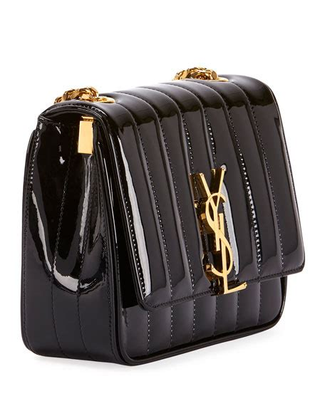 saint laurent vicky monogram ysl small quilted patent