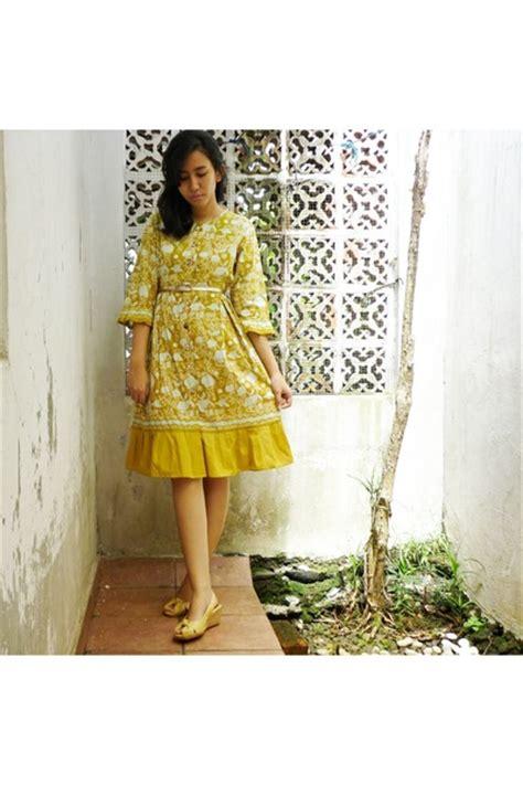 Dress Batik Free Belt mustard batik dresses light yellow leather stefania baldo