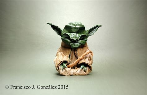 Origami Jedi Master Yoda - this week in origami non paper material edition