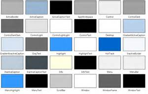 system drawing color systemcolors 2 000 things you should about wpf