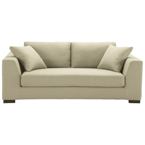 cotton sofas 2 3 seater cotton sofa in putty terence maisons du monde