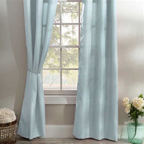 ice blue curtains ice blue curtain panel set 96 in kirklands