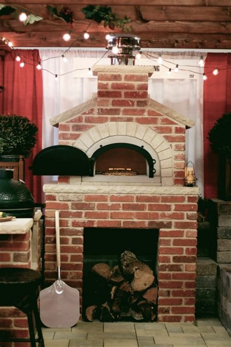 outdoor pizza brick oven traditional patio cedar