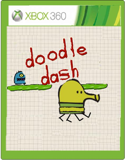 doodle dash doodle dash xbox 360 box cover by zombieghast