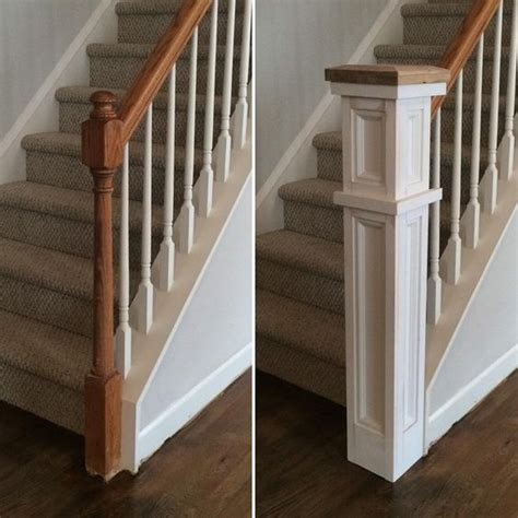 banister post caps rebuild on instagram before and almost after of the stair