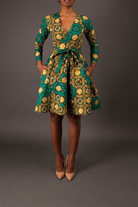 Afrina Dress the diane wrap dress zuvaa afrocentric wear