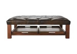 Modern White Leather Bench Good Leather Coffee Table Ottoman Concepts