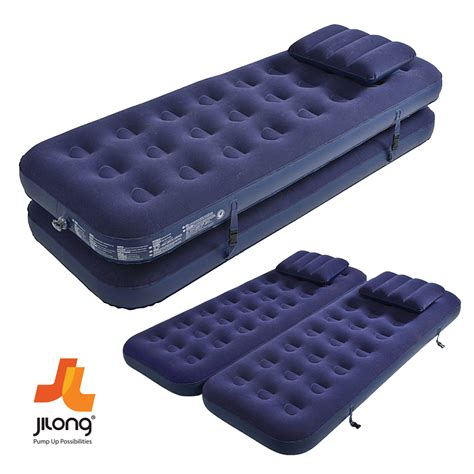 jilong single flocked air bed cing mattress with air