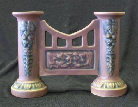 roseville pottery quot florentine quot pattern gate vase from