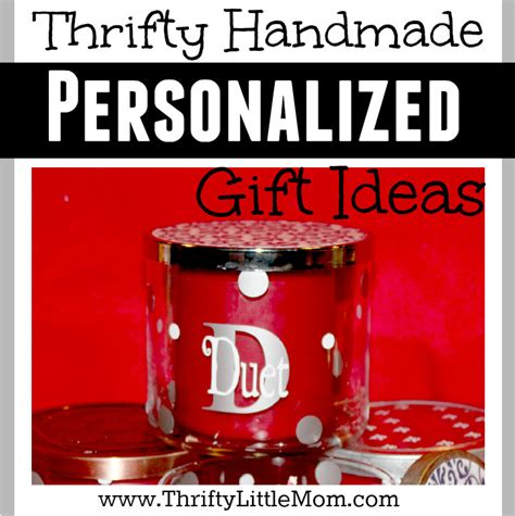 Personalised Handmade Gift Ideas - thrifty handmade personalized vinyl decal gift ideas