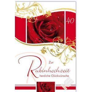 Hochzeit 31 Jahre by Karte Rubinhochzeit 40 Hochzeitstag Ebay