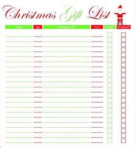 kids christmas list template besttemplates123