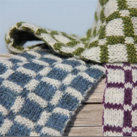 pattern for socks in double knitting plaid double knit scarf by lucy neatby craftsy