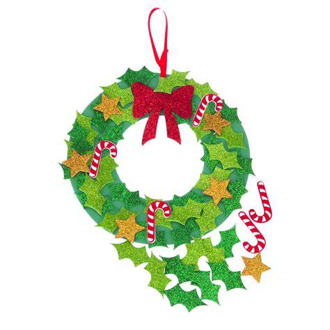 christmas glitter wreath kit festive wreath christmas
