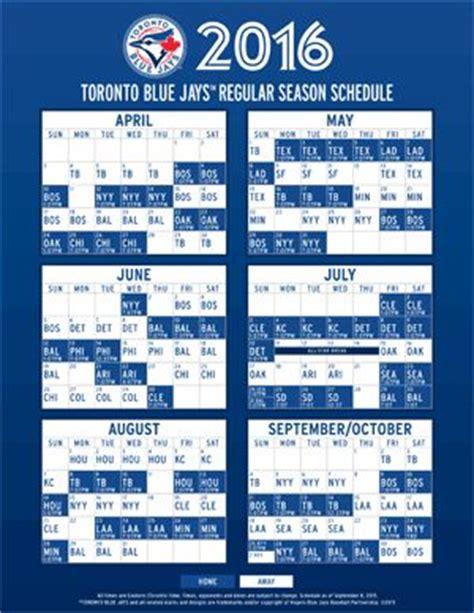 printable schedule toronto blue jays 2016 blue jays schedule my sports world pinterest