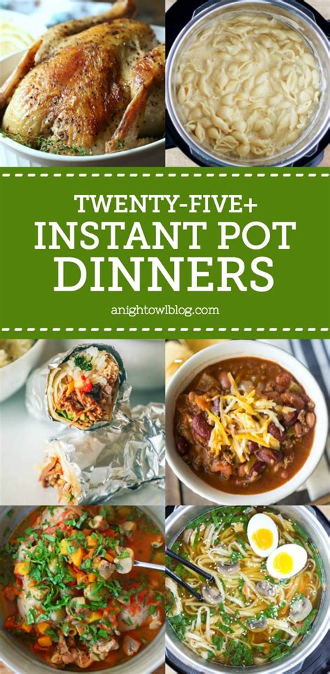 weeknight cooking with your instant pot simple family friendly meals made better in half the time books 25 instant pot dinner recipes a owl