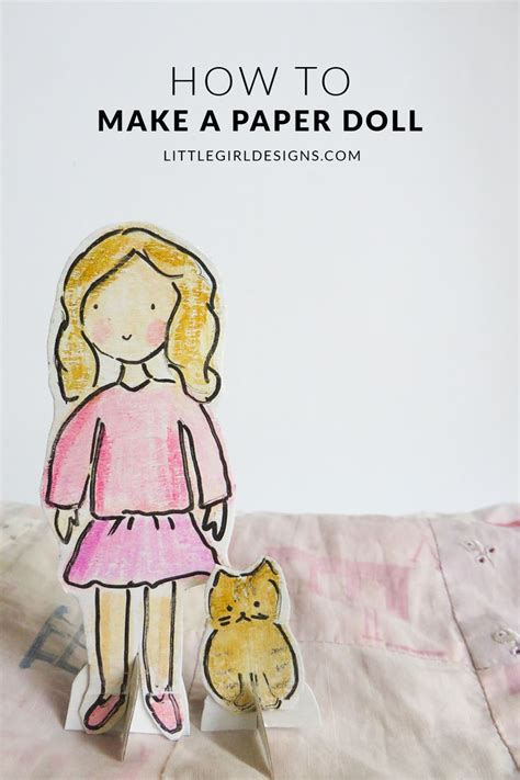 How To Make A Paper Doll - how to make a paper doll paper friends and