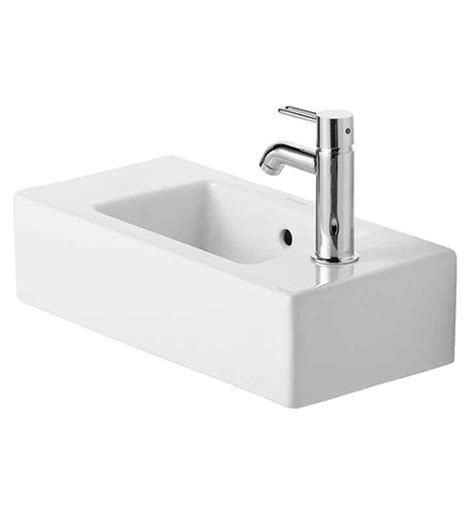 duravit bathroom sink duravit 0703500008 vero 19 5 8 inch wall mounted porcelain