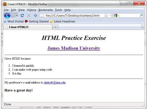 html layout exercises html practice exercises