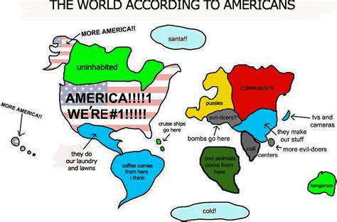 usa map jokes just kidding humor and our world the world according to