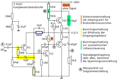 transistor als schalter bc337 komplement 228 rendstufe schaltungsanalyse einer 3w transistorendstufe
