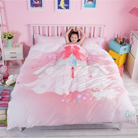 Princess Bed Set For Toddlers Pink Princess Themed Bedding Set Zgf Ebeddingsets