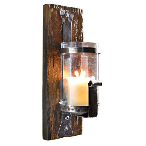 wand kerzenhalter wood eisen holz glas jetzt bestellen - Kerzenhalter Wand Glas