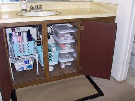 bathroom under sink storage ideas