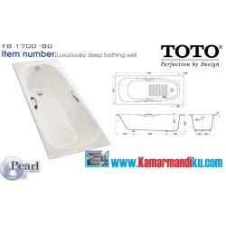 Bath Tub Toto Fb1700 80n White specials toko perlengkapan kamar mandi dapur
