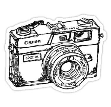 """canon canonet ql17 giii rangefiner camera"" stickers by"