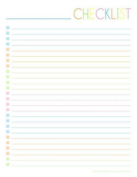printable checklist 1000 images about printable to do list on