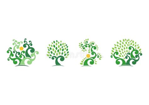 Tree Natural Logo Green Tree Ecology Illustration Symbol Icon Vector Design Stock Vector Image Ecology Green Icons Tree With Logo Vector Stock Vector Image 51156431
