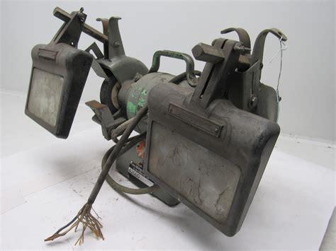 vintage bench grinder for sale black decker vintage industrial 6 quot bench grinder 220