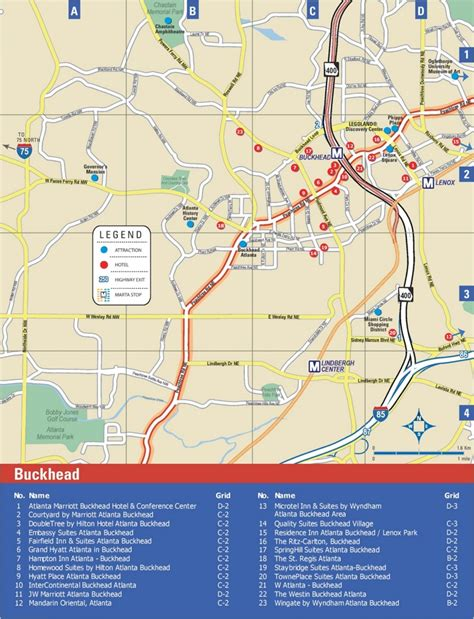 atlanta map usa buckhead hotel map